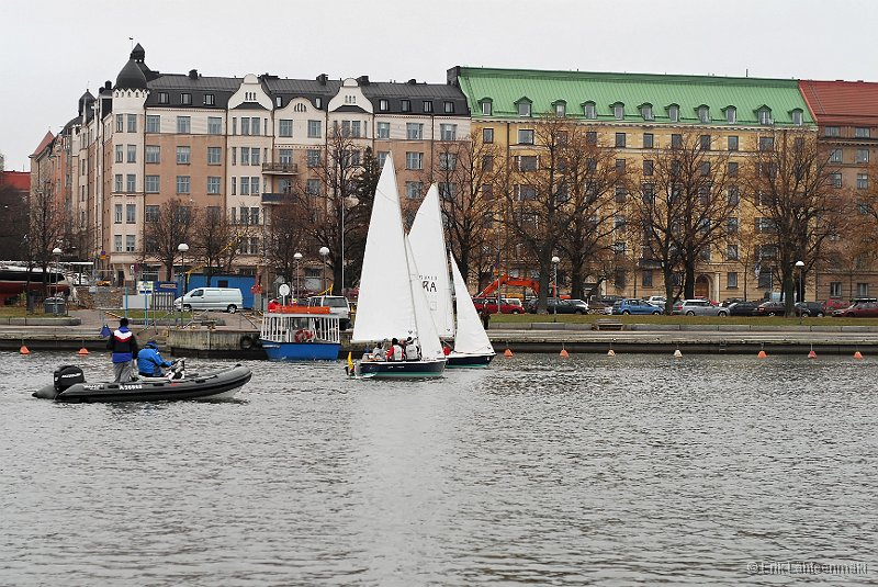 Top of the Finnish junior sailors in quite chilly November weather in Helsinki Sea Harbour.
