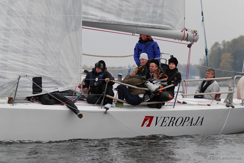 The famous Karvalakkikisa (Fur Hat Race)is the last race in the Finnish Offshore Ranking and is very popular because of its late timing in the season, when the weather can be really cold. Year 2010 race was in quite warm weather and light to medium wind.