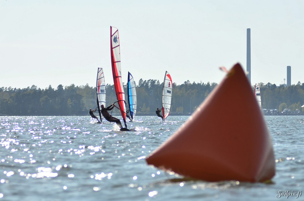 Formula Raceboards at Mellsten in light wind after long lunch, watching icehockey. Open Slideshow