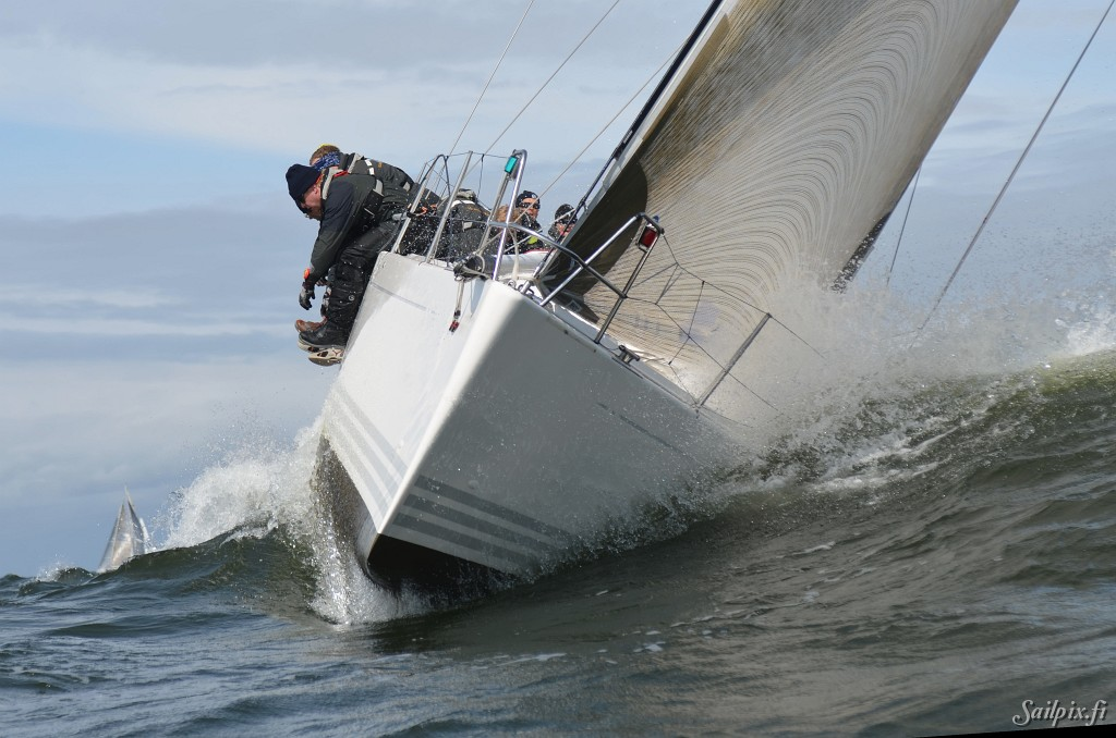 WB Sails Round the Buoys with the best Finnish offshore yachts. Pictures from the first race before the wind died. Open Slideshow