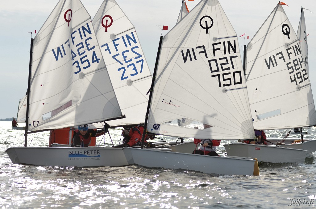 The annual Höstregatta (Autumn Regatta) for Optimist- and Europe-dinghies, and 29er's organized by NJK was sailed near the club harbor at Koivusaari, Helsinki. Open Slideshow