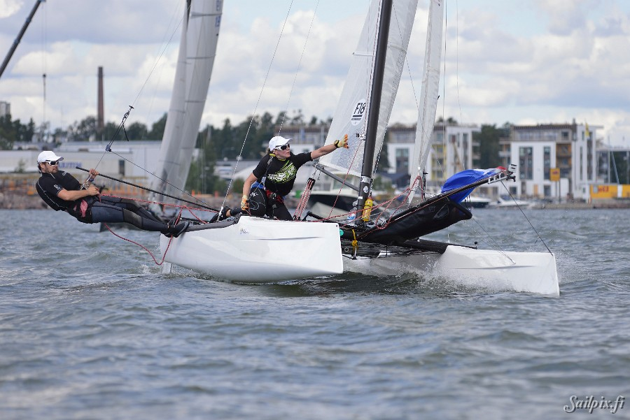 Some photos of two Formula 18 and one Nacra 17 teams training around Melkki Island, Helsinki. View Slideshow