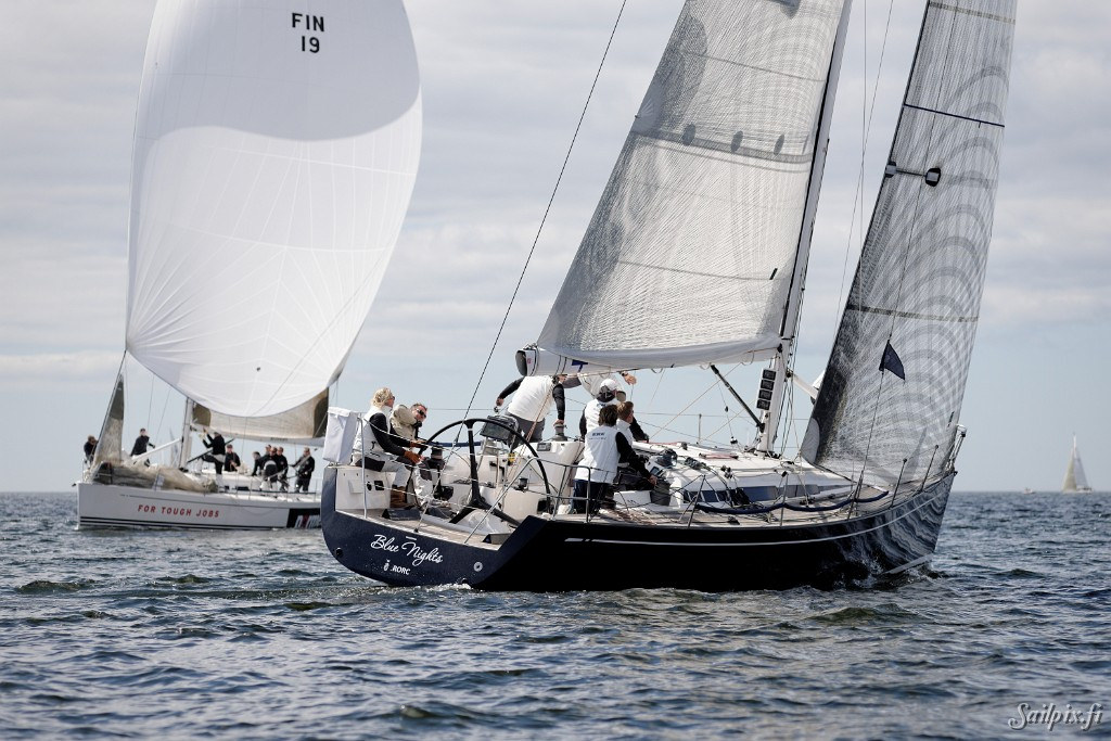 "The traditional  ""WB Sails"" race in the Finnish Offshore Ranking series with three races on windward/leeward race course. Totally 30 yachts, divided in 5 different classes including an own class for the X-99, were racing in the quite light, but shifting wind. Photos are from race 1 and 2. Results: IRC, ORC1, ORC2, ORC3, X-99 […]"