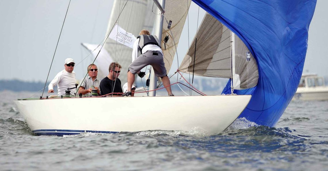 """Second day at the 6mR class Finnish Championship, which was a part of the """"Champagne Regatta"""" – Jacquart Baltic Classic Master Cup 2014 organized by HSS. The wind was light in the morning so the first race was delayed, but during the cloudy day the wind catched up and both races were sailed. Special congrats […]"""