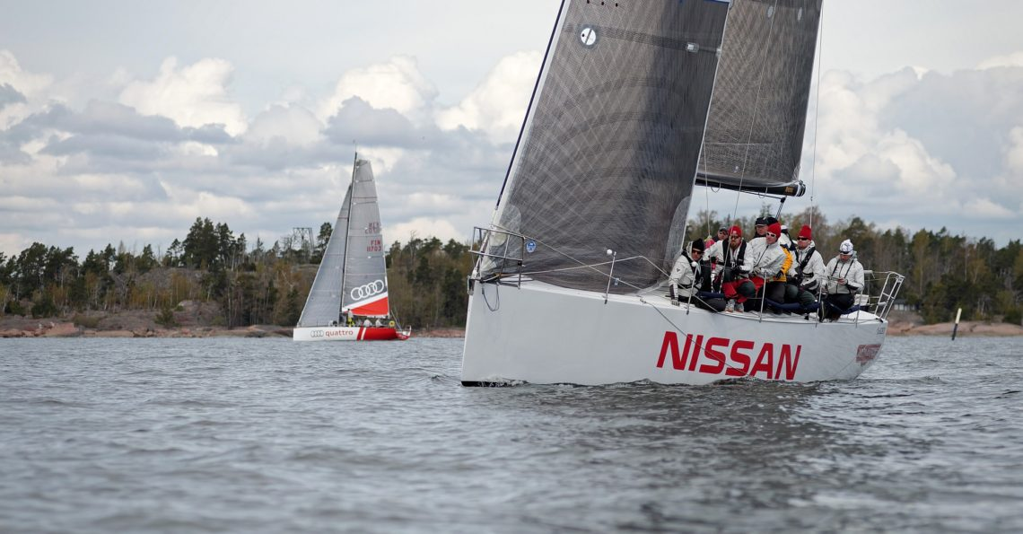 Season opening for the Finnish Off Shore sailors and for Sailpix. Race was sailed in light wind which increased during the day with plenty of sunshine. RESULTS ..and a 30 second video from the ORC1 class start.