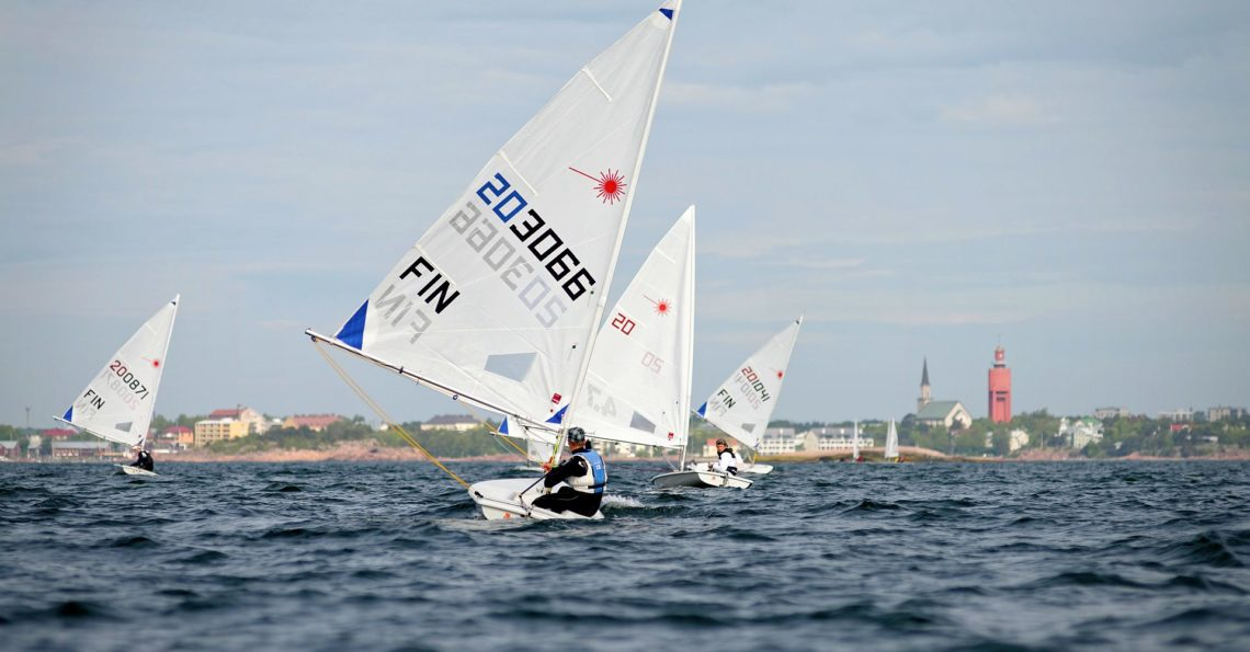 Three dinghy classes with total 60 sailors competing in Laser radial, Europe and Zoom. Photos from first race on Saturday only. First slideshow is with common photos and second slideshow is sailing portraits of individual sailors, where tried to catch as many as possible. Results.  If you were sailing at this Audi Dinghy Regatta, […]